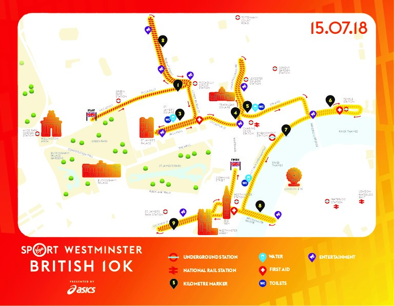 Virgin Run Route Map